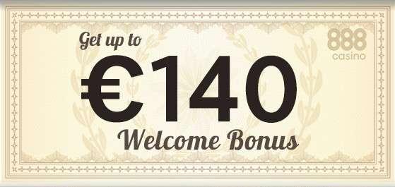welcome bonus 140 евро в казино 888 при регистрации
